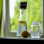 detoxification photo of lemons and clean water